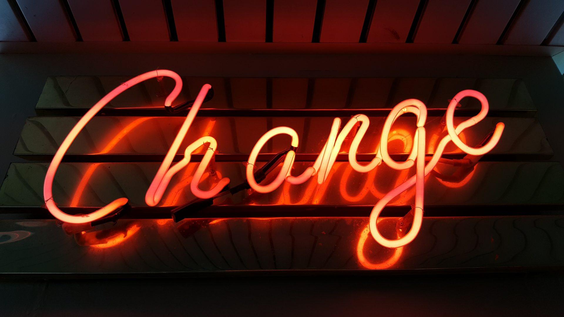 Neon verlichting change